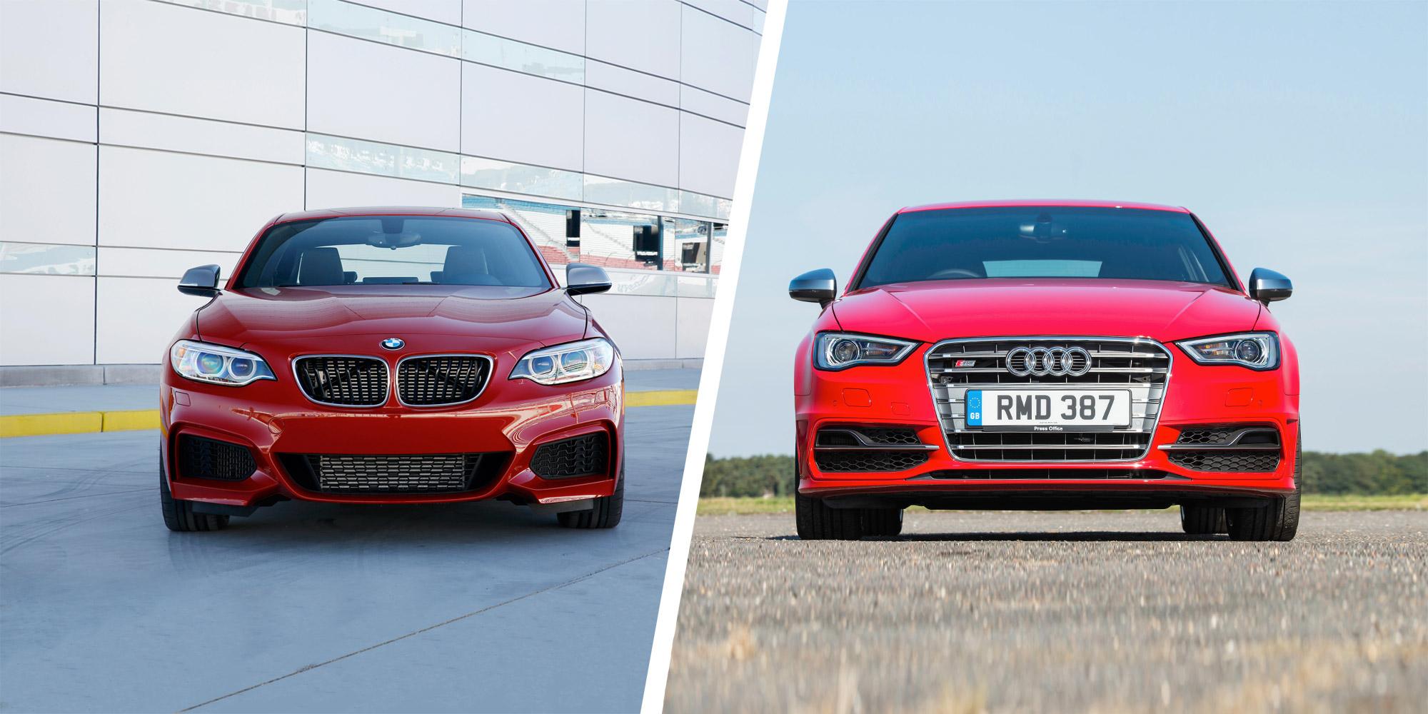 BMW M235i vs Audi S3 - speedy showdown   carwow