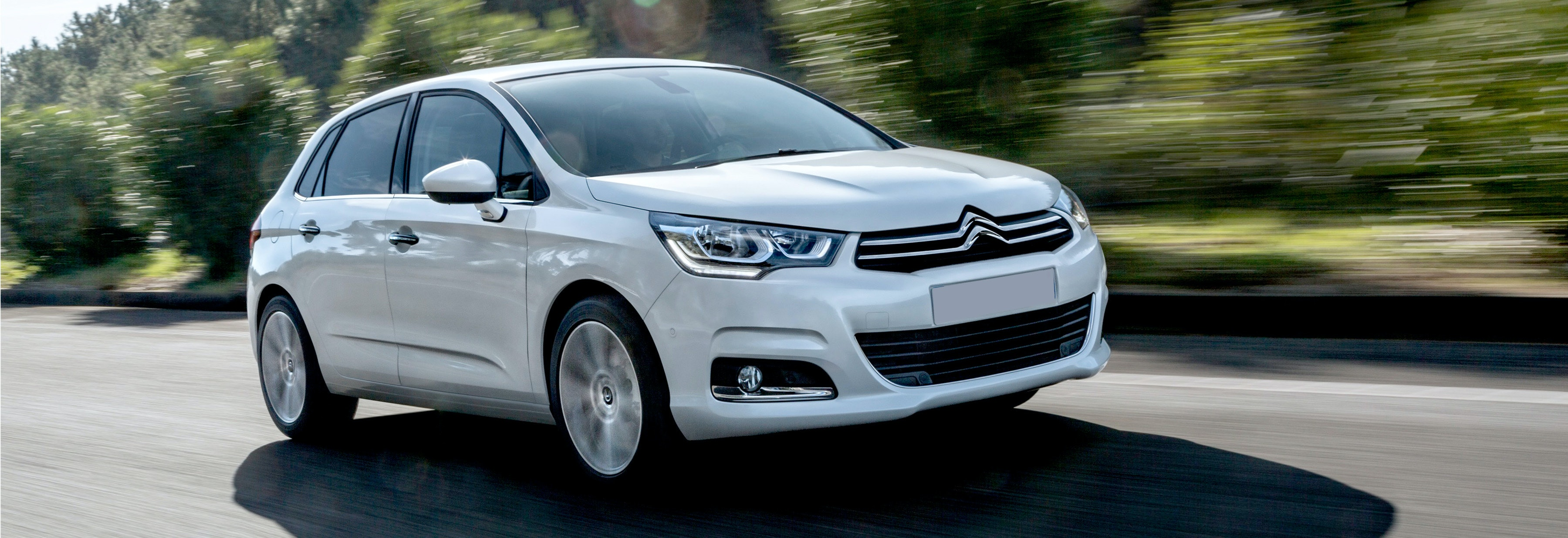 2018 citroen c4 white driving front