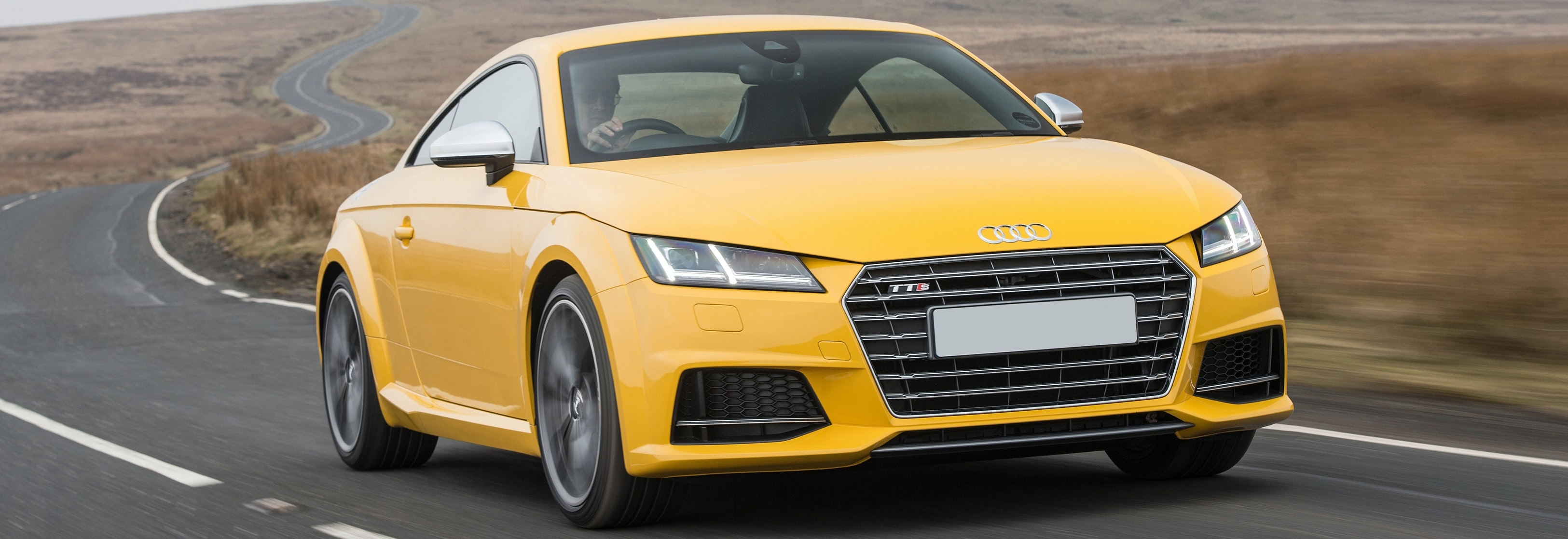 2018 Audi Tts Yellow Driving Front