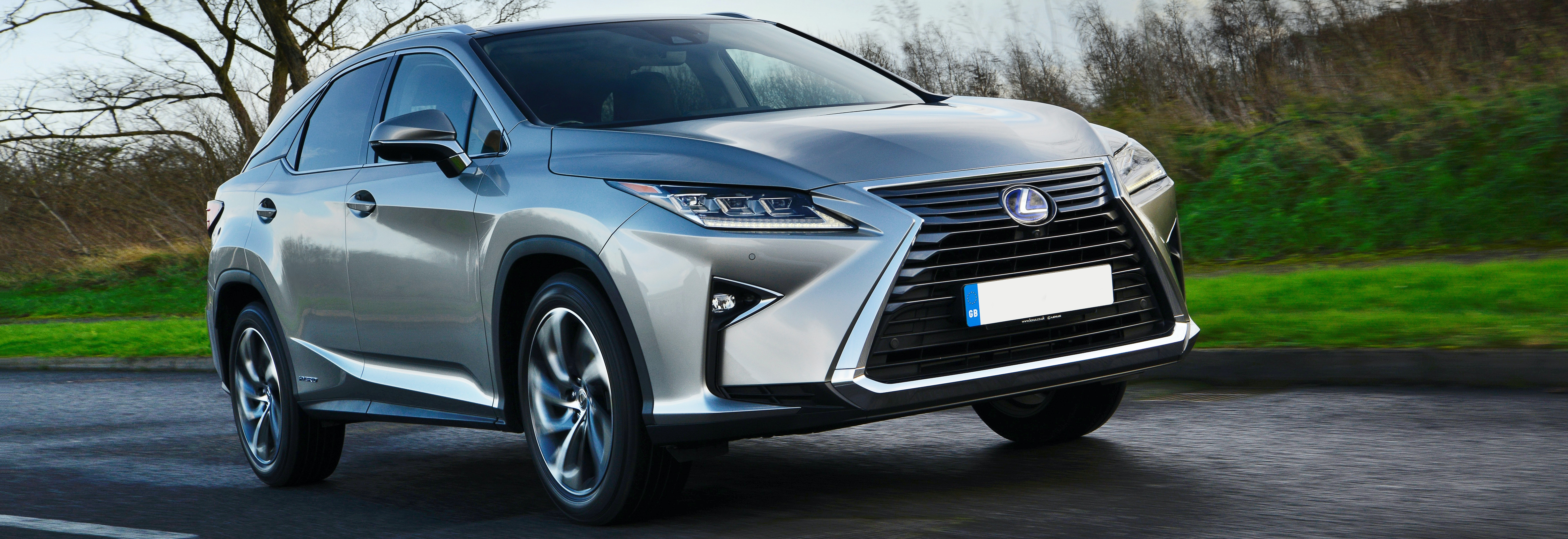 2018 lexus rx silver driving front