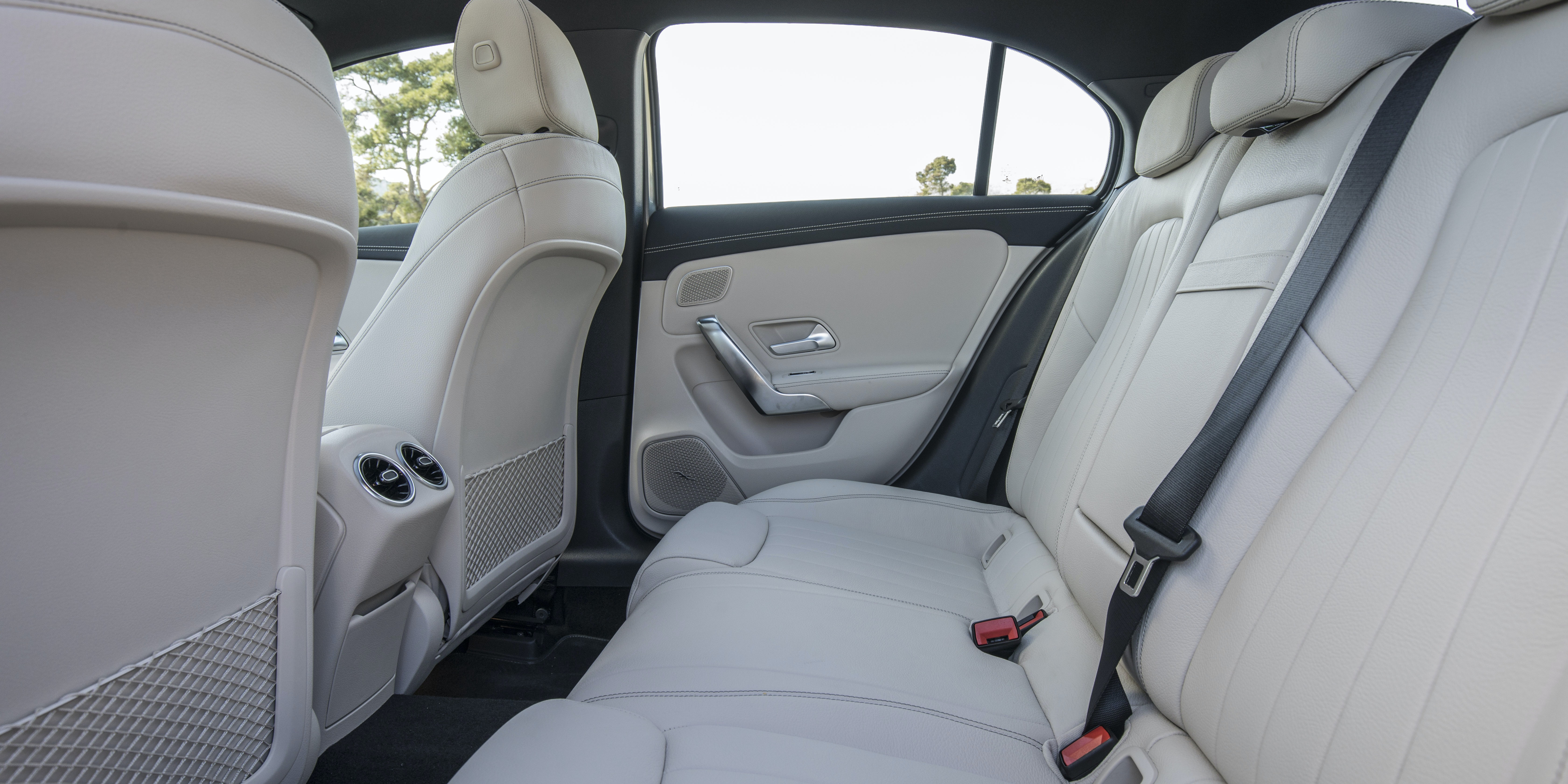 The back seats are fairly spacious, but alternatives are roomier