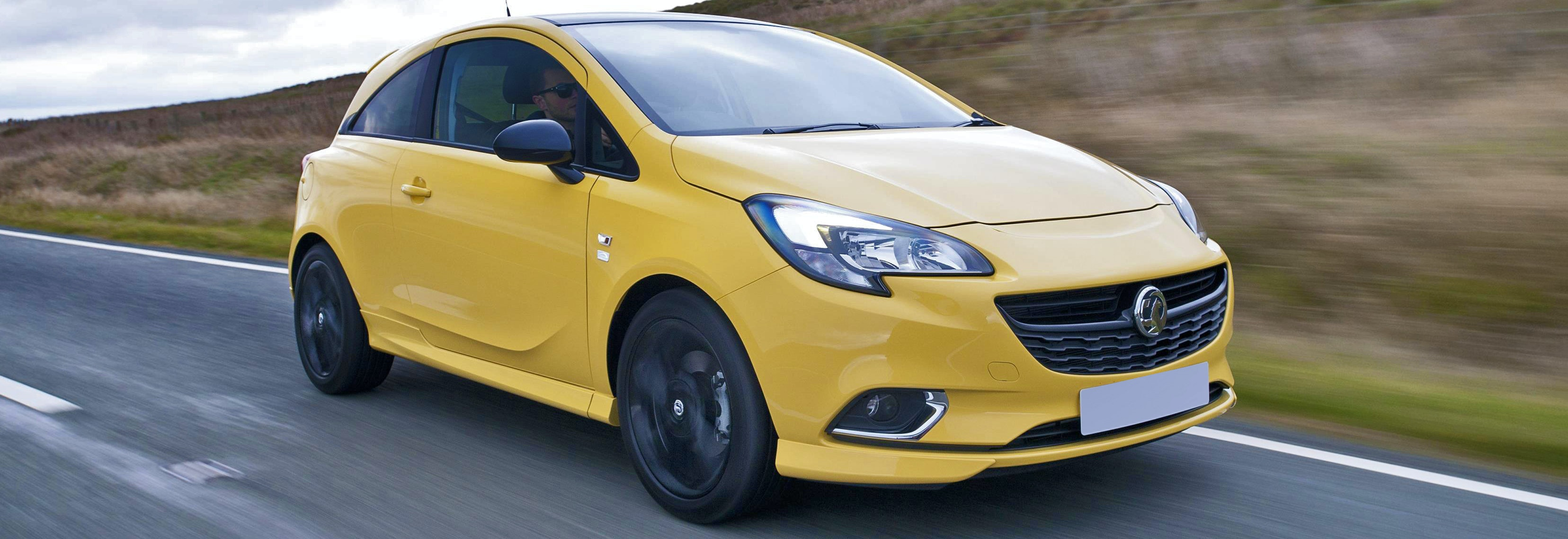 2018 vauxhall corsa yellow driving front