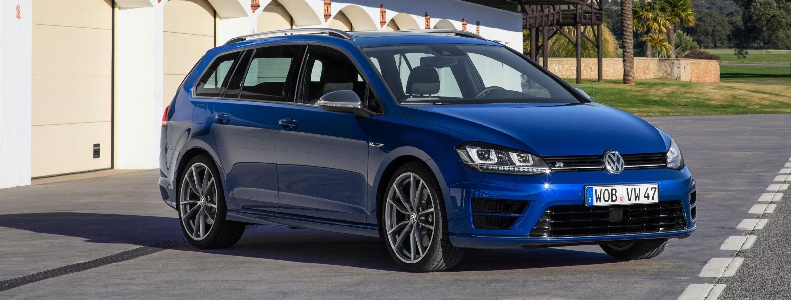 Blue VW Golf R Estate