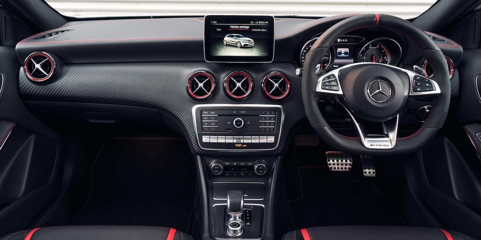 mercedes a45 amg interior and infotainment carwow