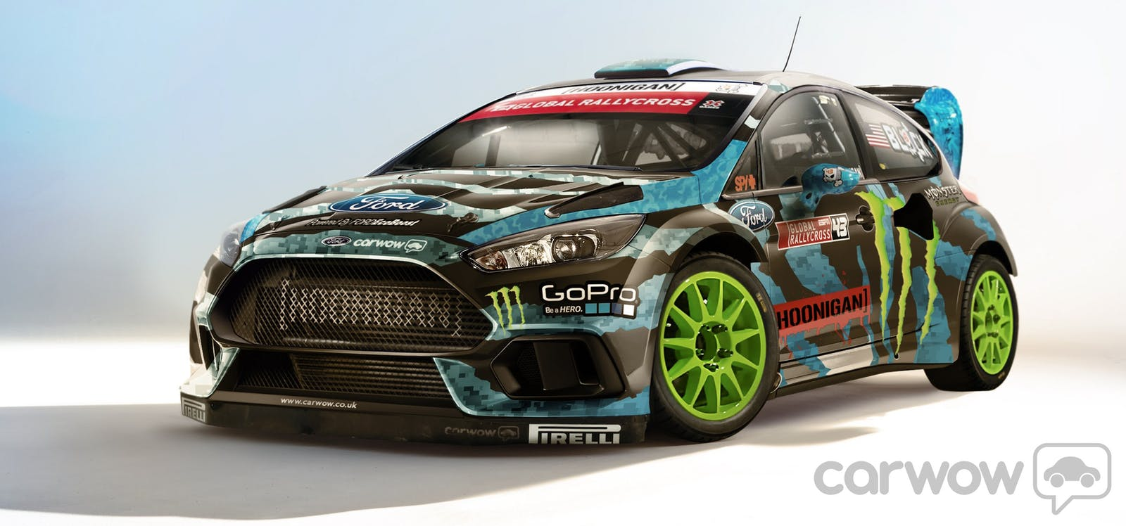 2015 ken block ford focus rs gymkhana imagined by carwow carwow. Black Bedroom Furniture Sets. Home Design Ideas