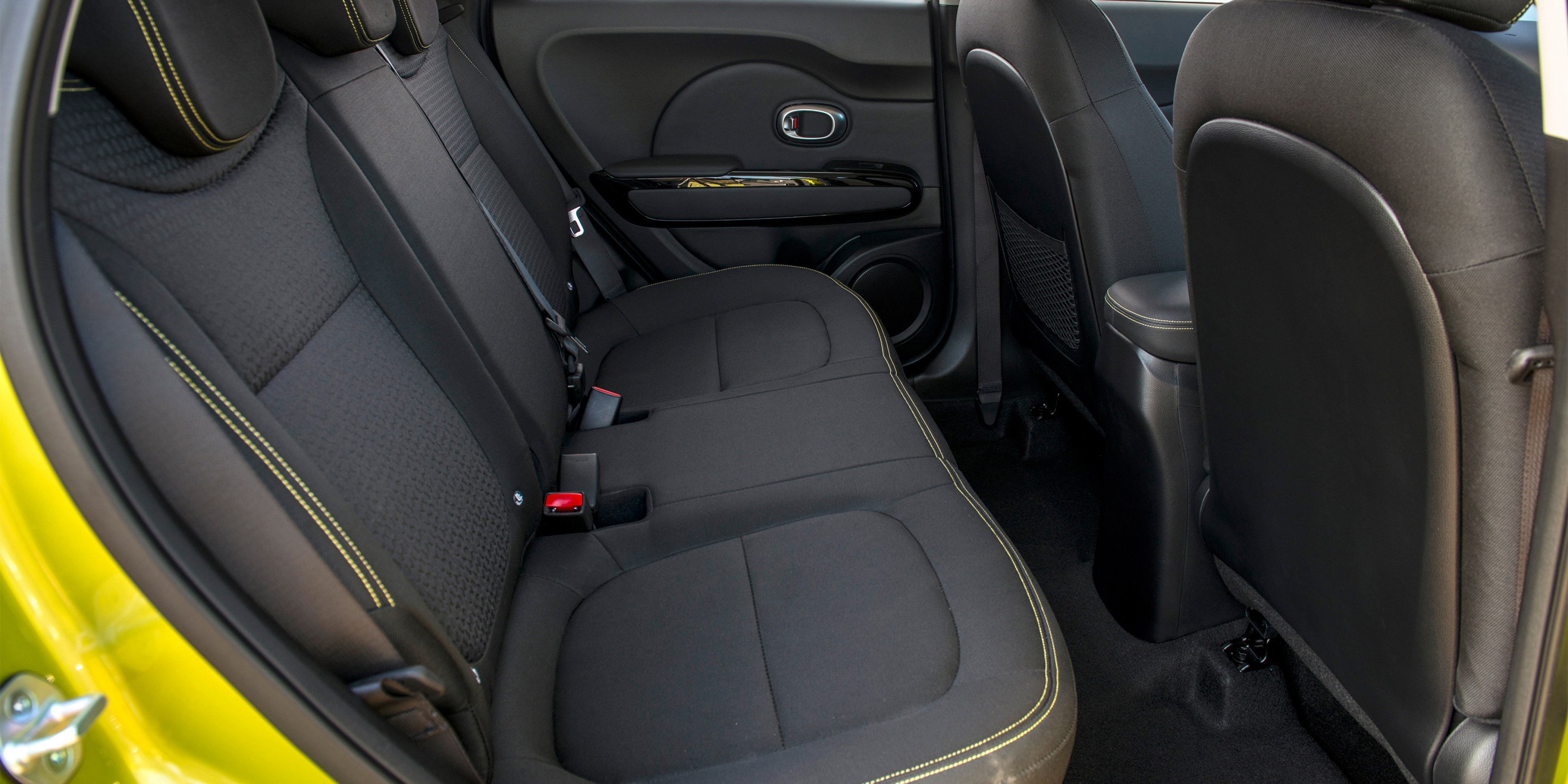 Unlike some smaller alternatives, the Soul will take three adults across the rear seat