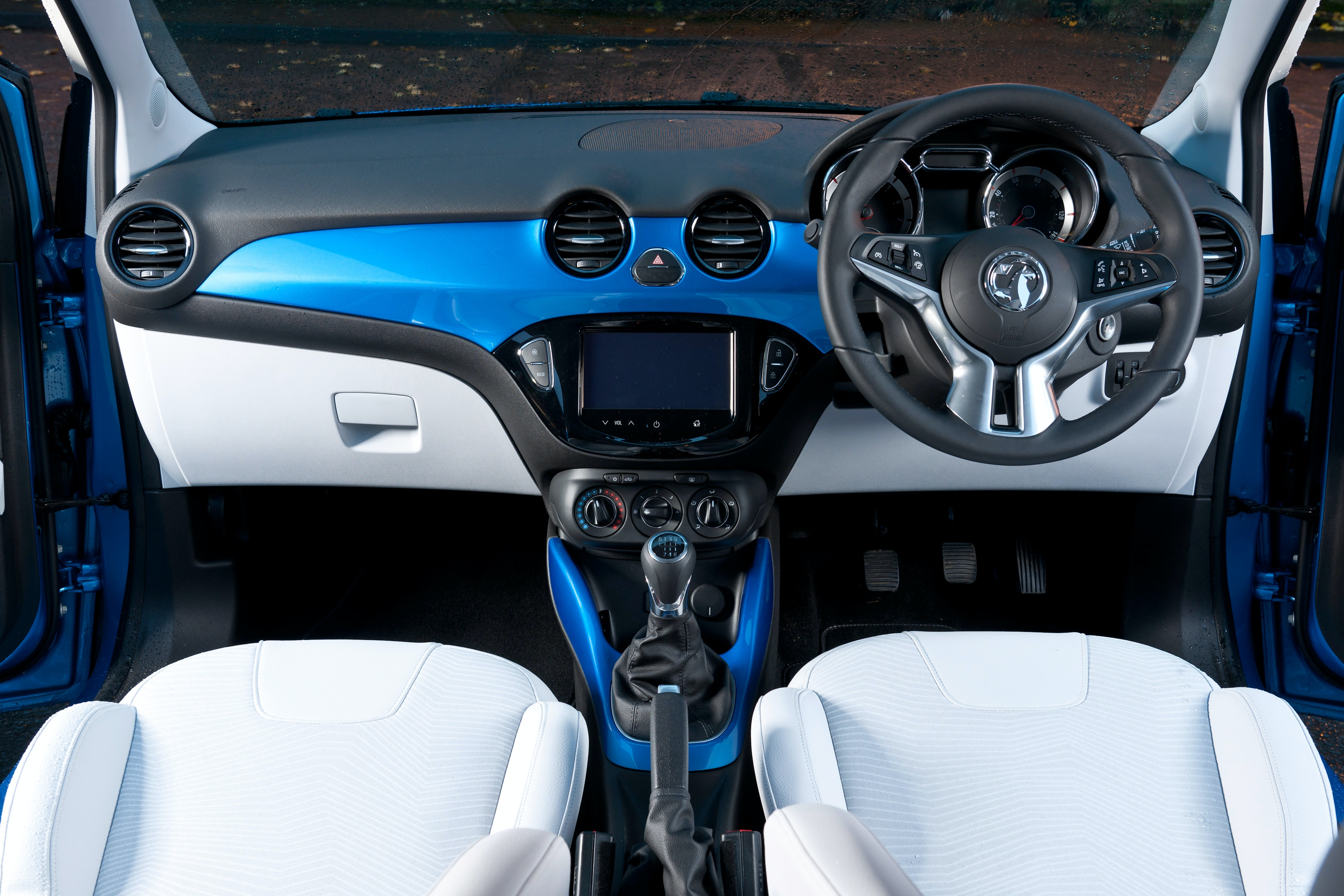 The Adam's interior is one of its best points, smart and full of colour