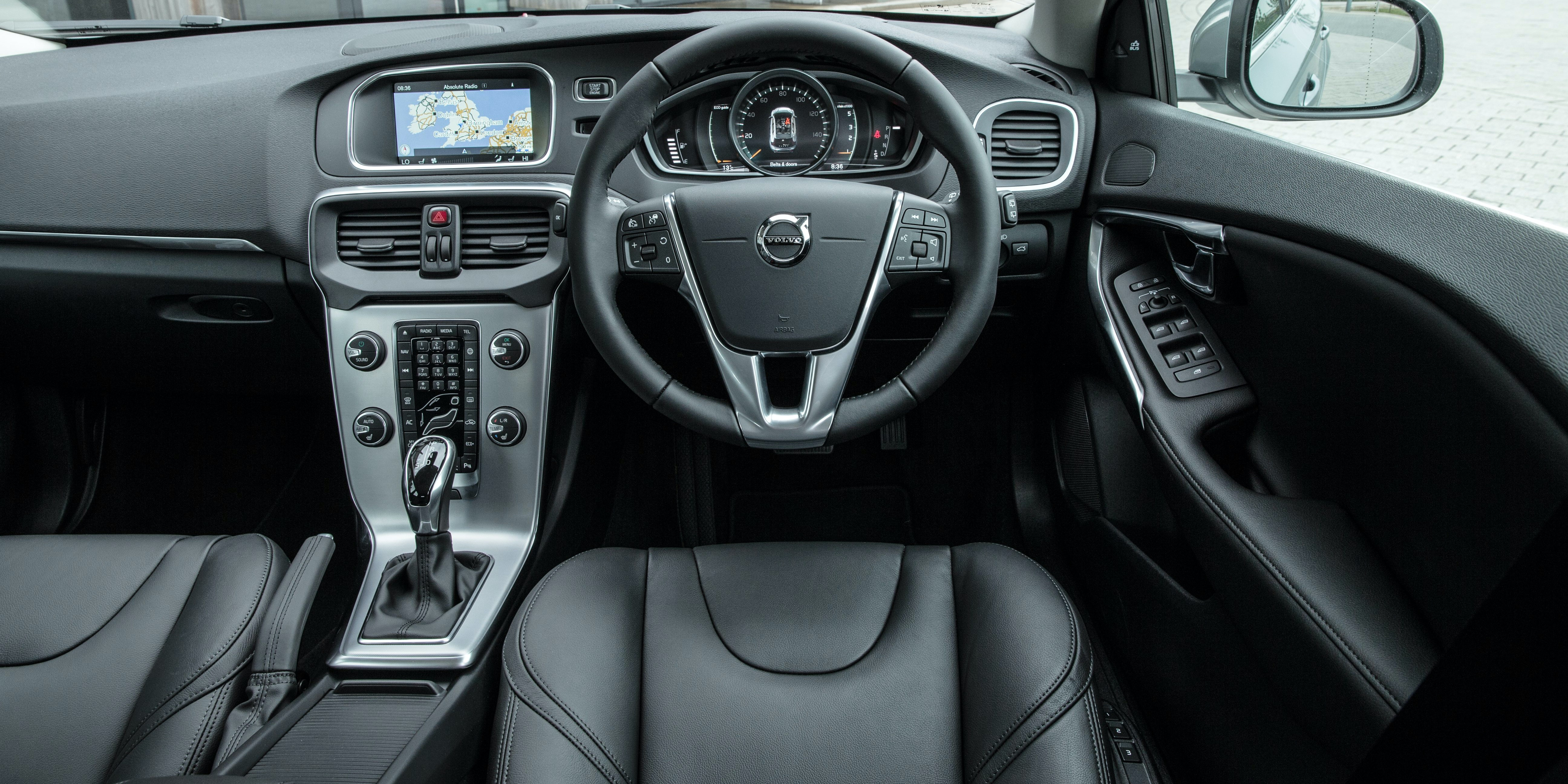 The V40's dashboard is full of distinctive features, like the 'floating' centre console