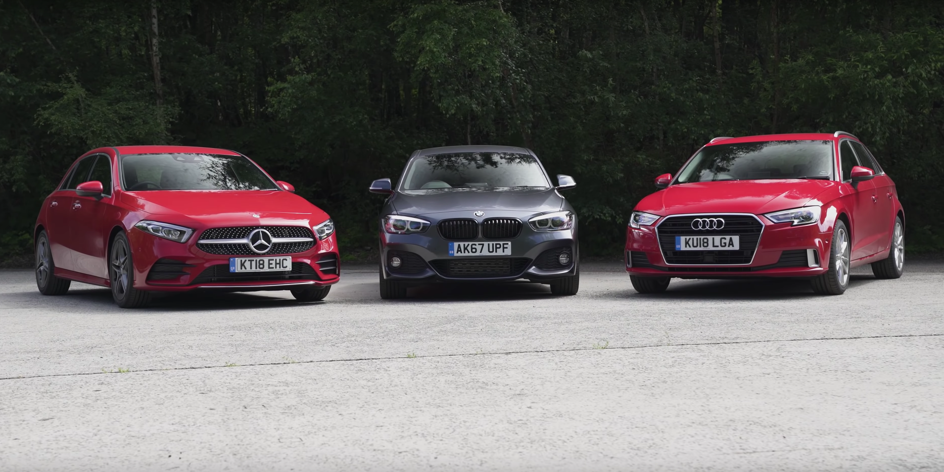 Audi A3 Vs Bmw 1 Series Vs Mercedes A Class Video Group Test Carwow