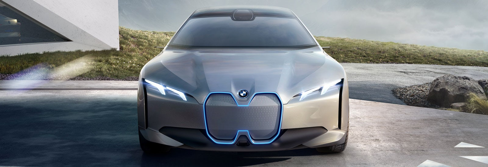 Bmw I Vision Dynamics Concept Parked Viewed From The Front