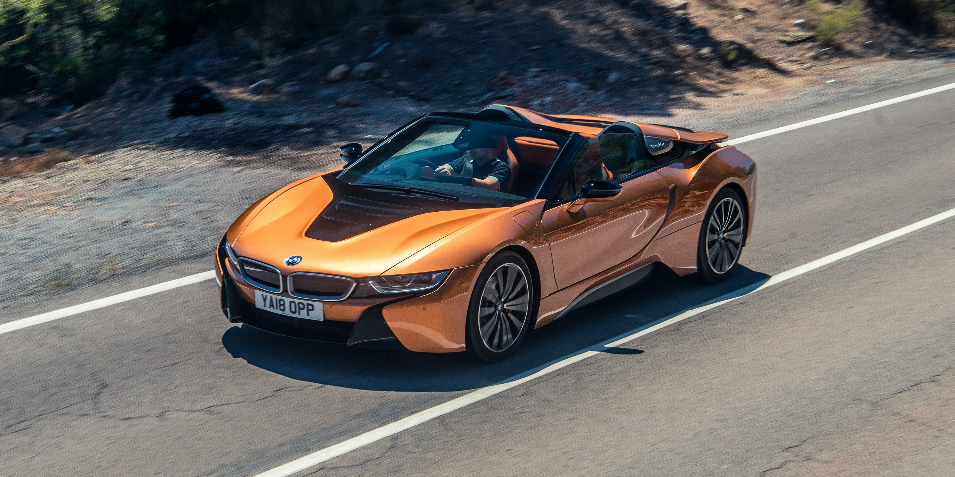 The i8 Roadster is one of the most futuristic-looking cars on sale