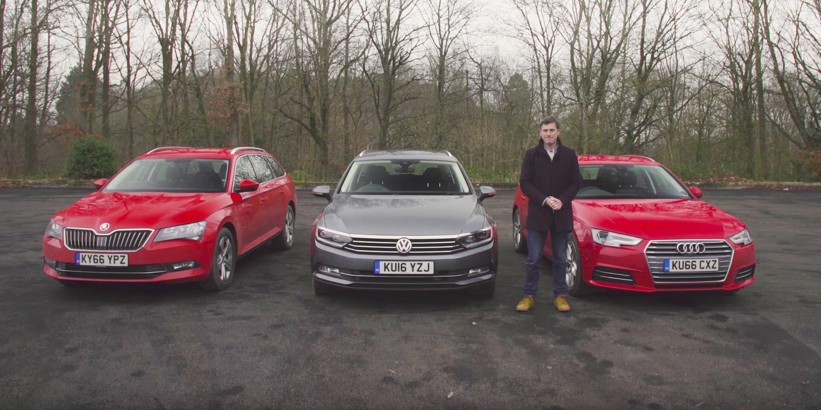 Audi A4 Avant vs VW Passat Estate vs Skoda Superb Estate | carwow