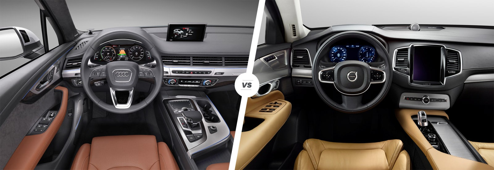 Audi Q7 e-tron vs Volvo XC90 T8 hybrid comparison   carwow