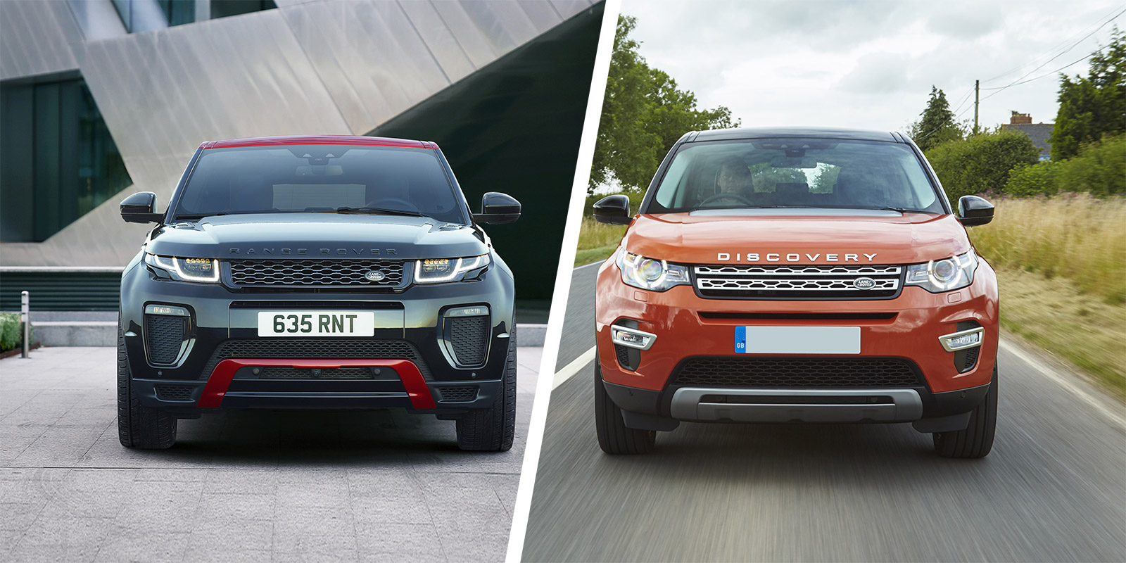 Range Rover Vs Land Rover >> Range Rover Evoque Vs Land Rover Discovery Sport Carwow