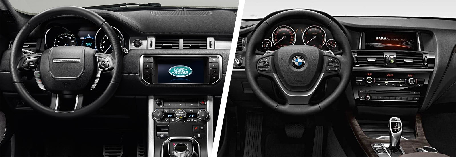 Range Rover Evoque Vs BMW X3 Interior