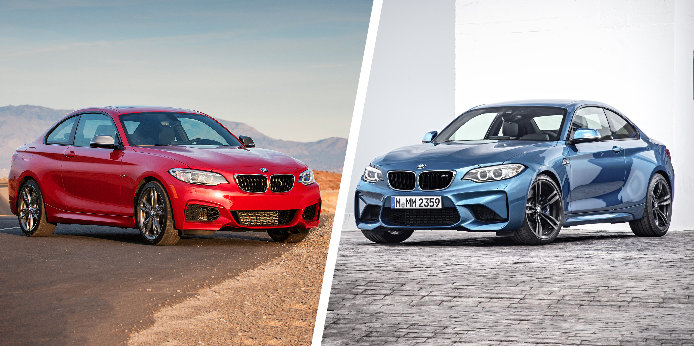 bmw m235i vs bmw m2 performance coupe clash carwow rh carwow co uk bmw m235i xdrive vs m2 2015 bmw m2 vs m235i