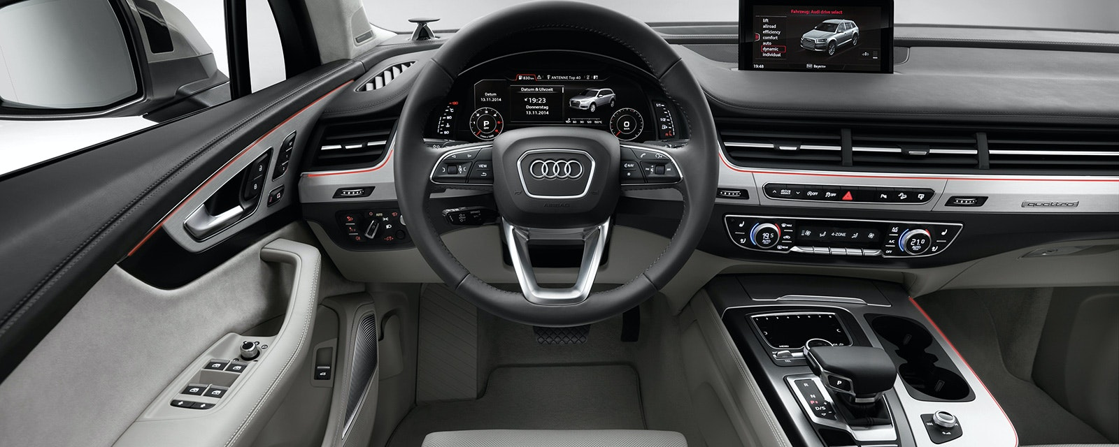 The Audi Q7 Has One Of The Best Interiors The Ingolstadt Based Brand Has  Ever Designed. The Dashboard Is Wonderfully Simple And Built From Fantastic  ...