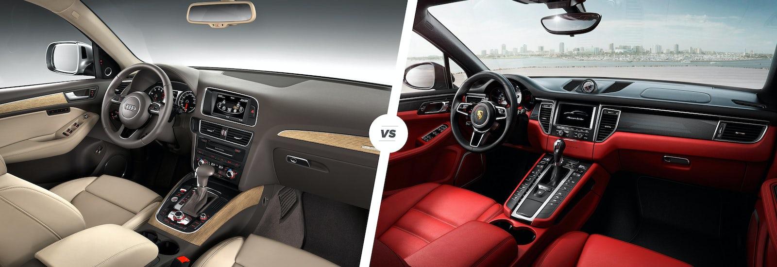 Audi Q Vs Porsche Macan Clash Of The SUVs Carwow - Audi q5 interior