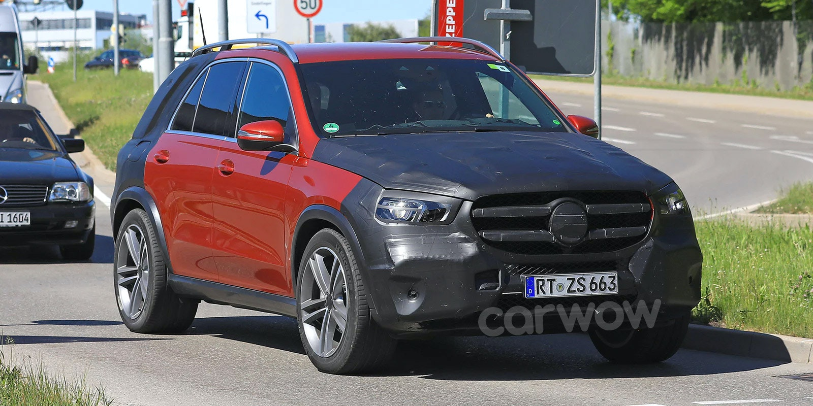 Mercedes gle red prototype driving spyshots lead 1.jpg?ixlib=rb 1.1