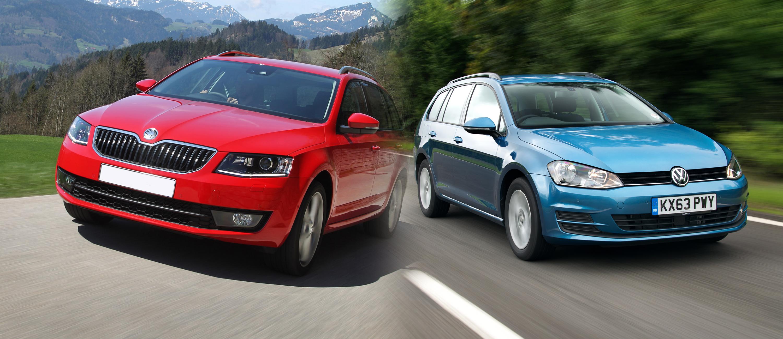 e4dccbf704 Skoda Octavia Estate vs Volkswagen Golf Estate – side by side UK comparison