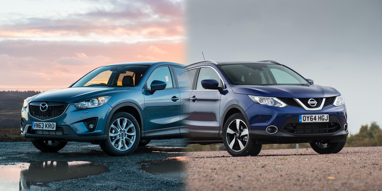 Nissan Qashqai vs Mazda CX-5 - side-by-side UK Comparison ...