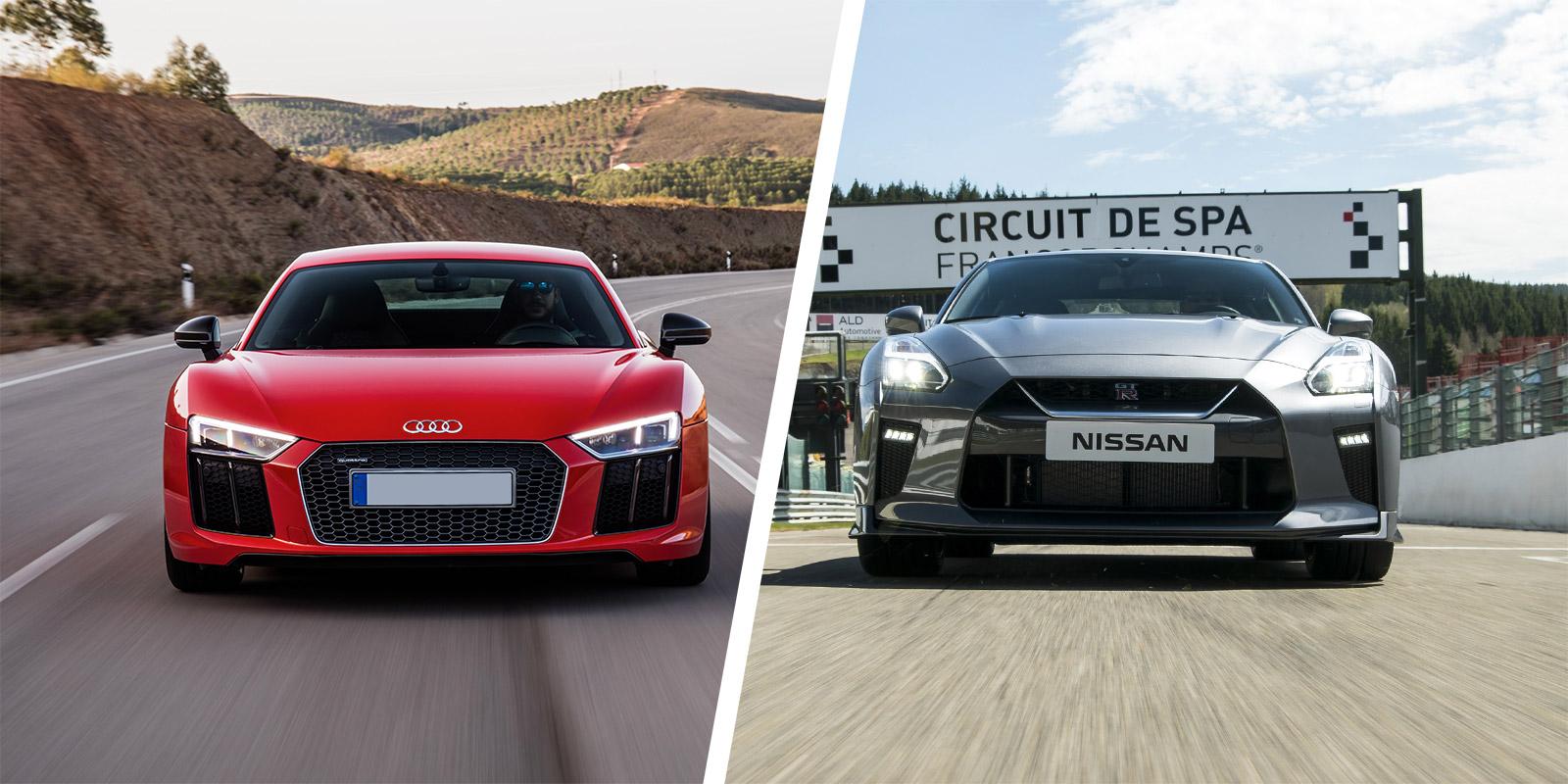 Audi R8 Vs Nissan Gt R Supercar Comparison Carwow