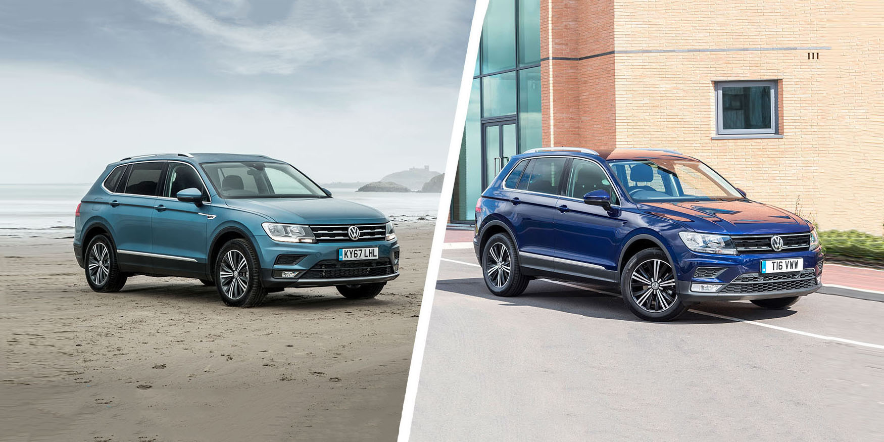 vw tiguan vs tiguan allspace which is best carwow. Black Bedroom Furniture Sets. Home Design Ideas