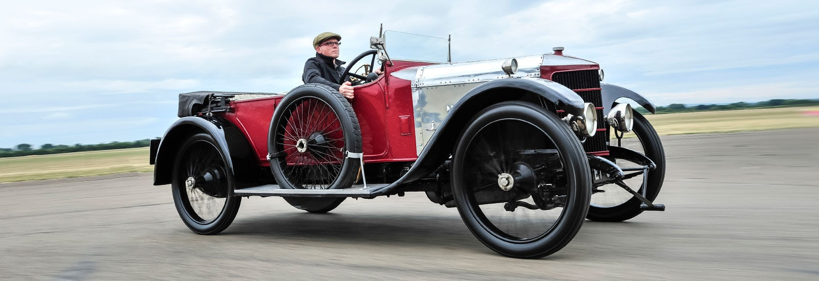 The four-litre engine in this 1910 Prince Henry model produced a thrilling  86hp