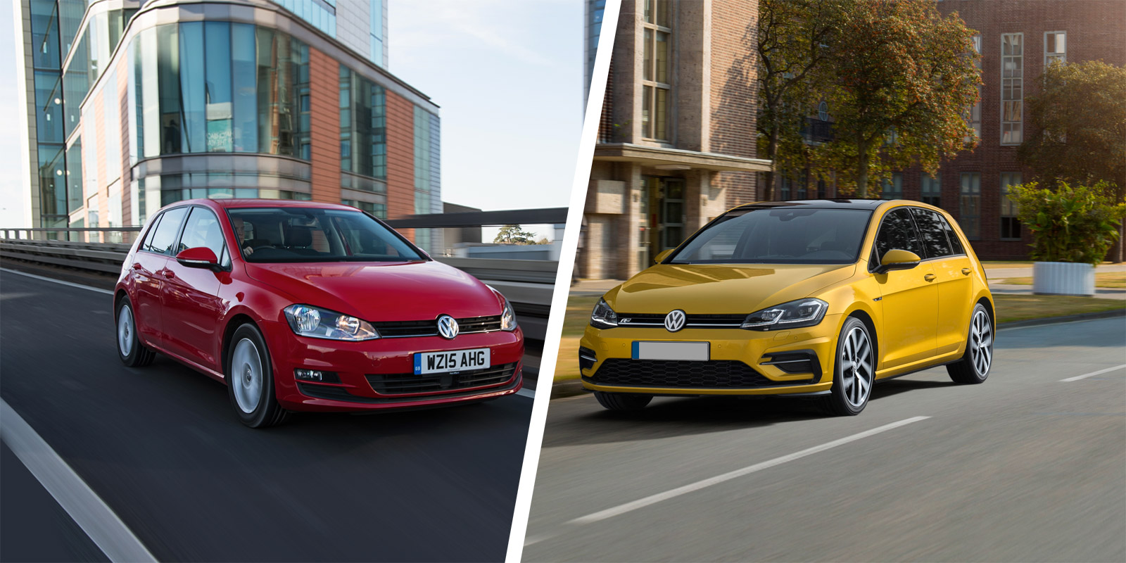 2017 VW Golf Mk7 facelift old vs new compared | carwow