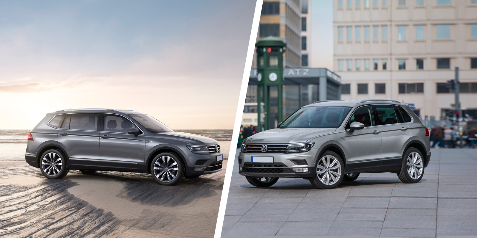 vw tiguan allspace 7 seater vs vw tiguan 5 seater carwow. Black Bedroom Furniture Sets. Home Design Ideas