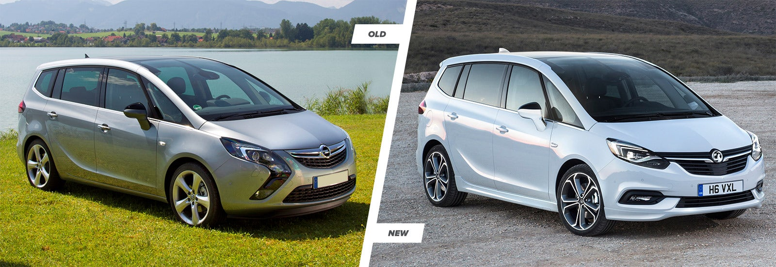 vauxhall zafira tourer old vs new compared carwow. Black Bedroom Furniture Sets. Home Design Ideas